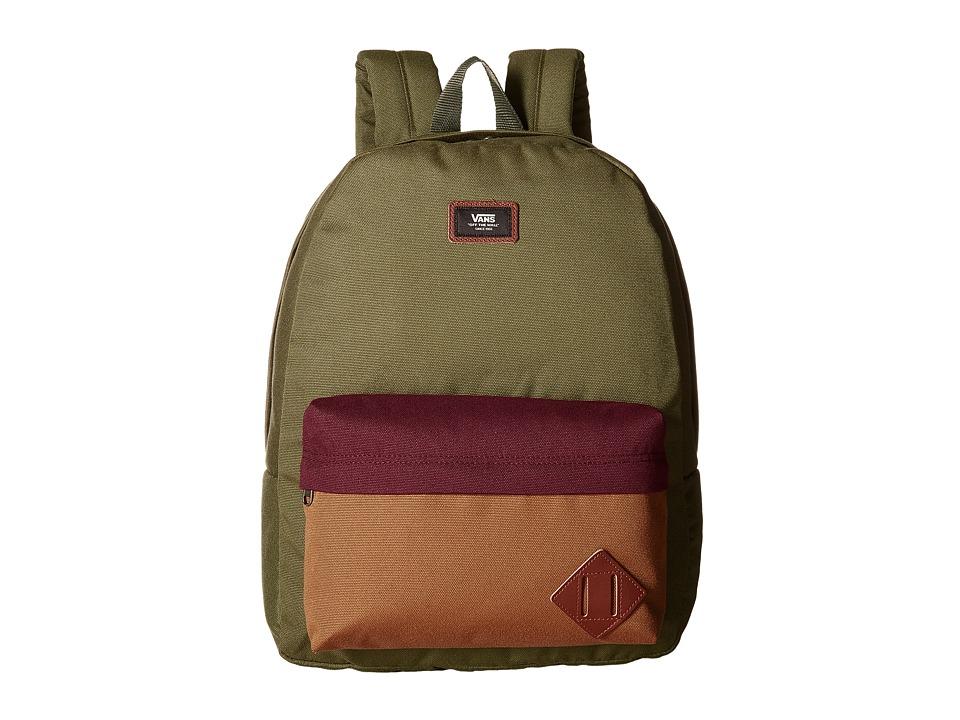 Vans Old Skool II Backpack (Grape Leaf Color Block) Backpack Bags