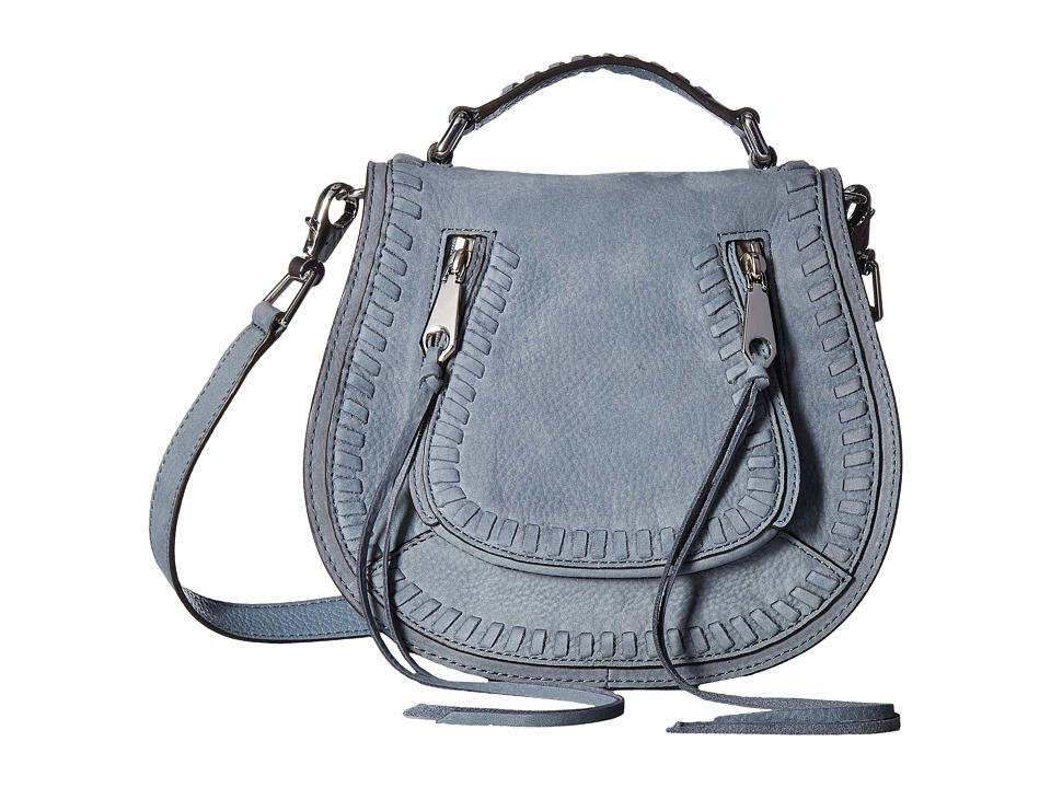 Rebecca Minkoff - Small Vanity Saddle (Dusty Blue) Bags