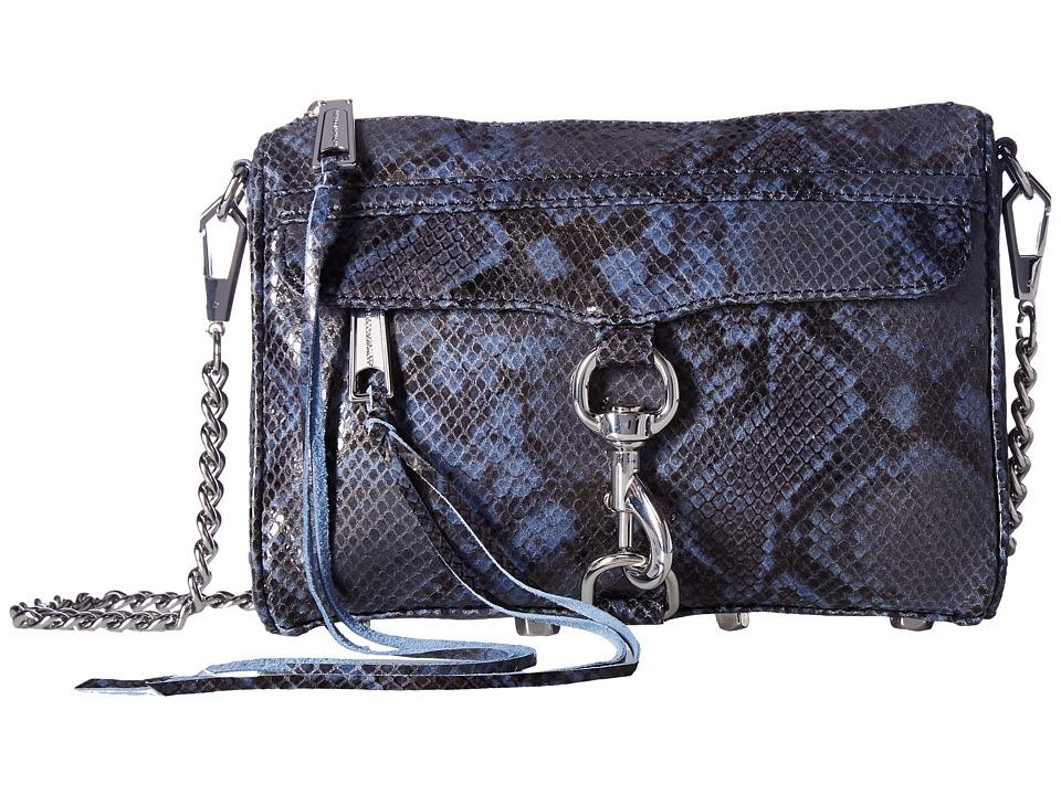 Rebecca Minkoff - Sunday Mini Mac (Blue Snake) Handbags