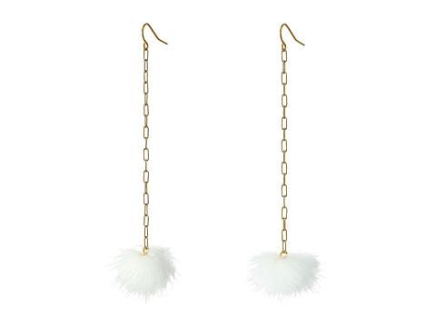 Vanessa Mooney The Decades Pom Poms Earrings - White