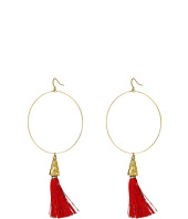 Vanessa Mooney - The Summer of Love Tassel Hoop Earrings