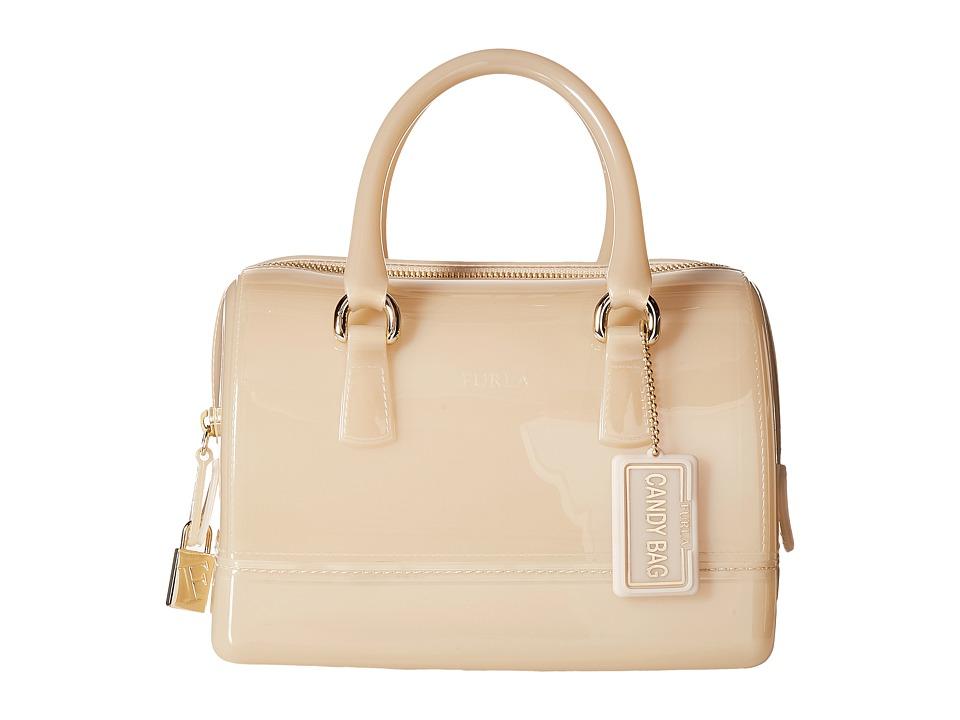 Furla Candy Cookie Small Satchel (Acero) Satchel Handbags