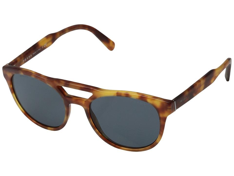 Prada 0PR 13TS (Matte Light Havana/Grey) Fashion Sunglasses