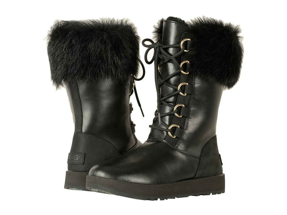 Ugg Aya Waterproof (Black) Women's Waterproof Boots