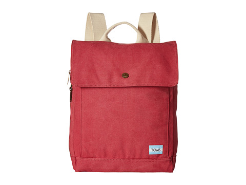 TOMS Canvas Backpack - Red