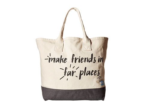 TOMS Printed Canvas Tote - Natural