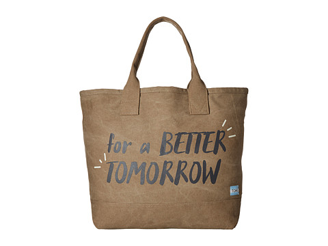 TOMS Printed Canvas Tote - Desert Taupe