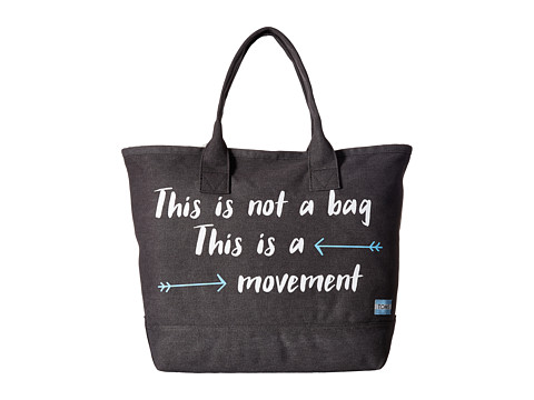 TOMS Printed Canvas Tote - Slate
