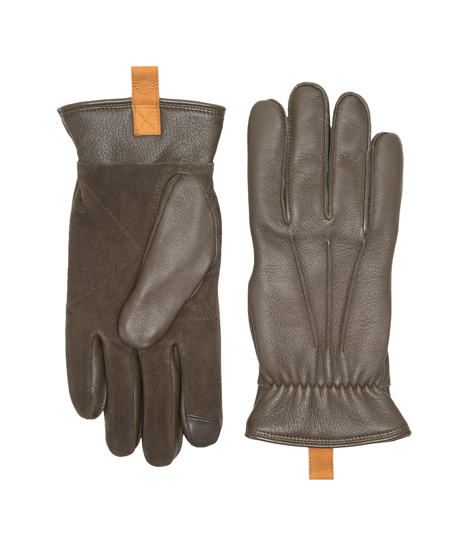 UGG Leather Smart Gloves w/ Pull Tab (Black) Extreme Cold Weather Gloves