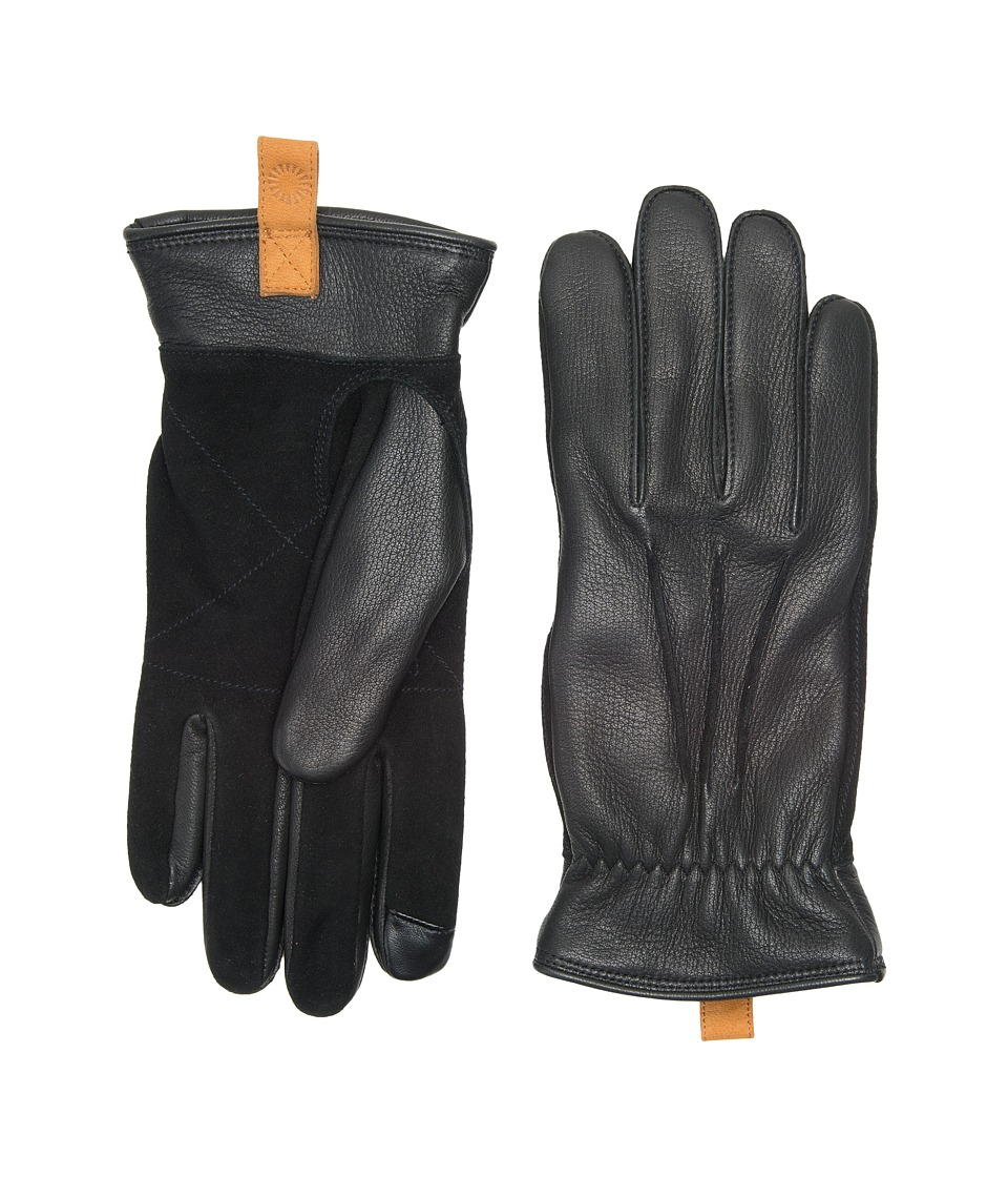 UGG Leather Smart Gloves w/ Pull Tab (Slate) Extreme Cold Weather Gloves