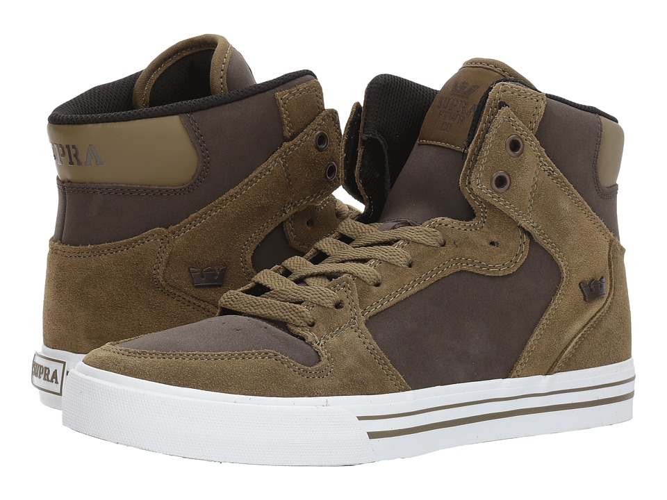Supra Vaider (Olive/Demitasse/White) Skate Shoes
