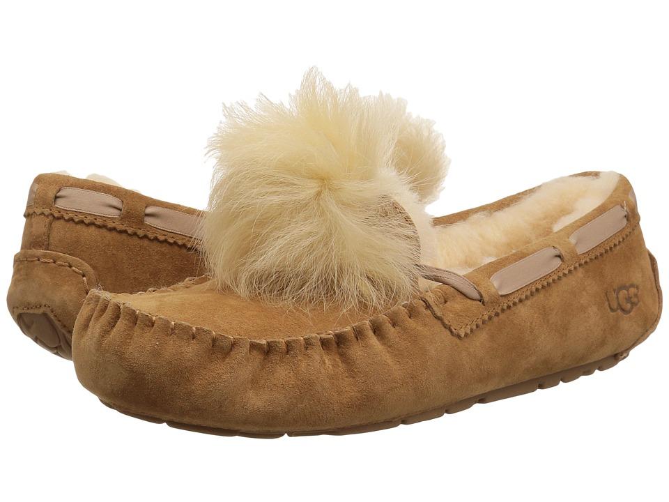 UGG - Dakota Pom Pom (Chestnut) Womens Flat Shoes