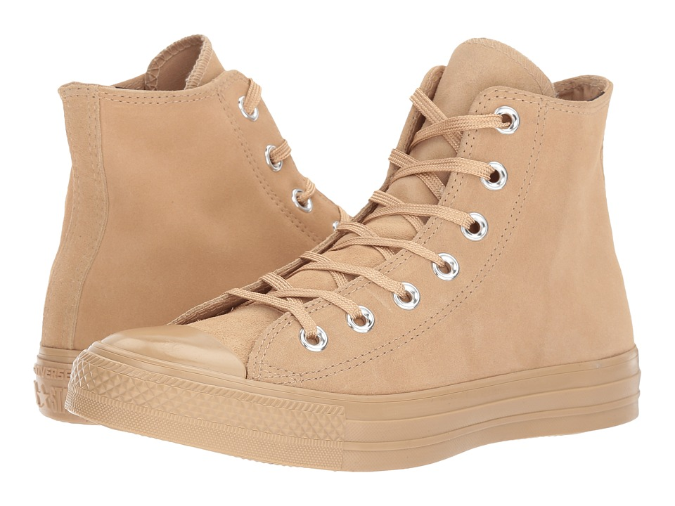 Converse - Chuck Taylor All Star - Mono Plush Suede Hi (Light Fawn/Light Fawn) Women's Lace up casual Shoes