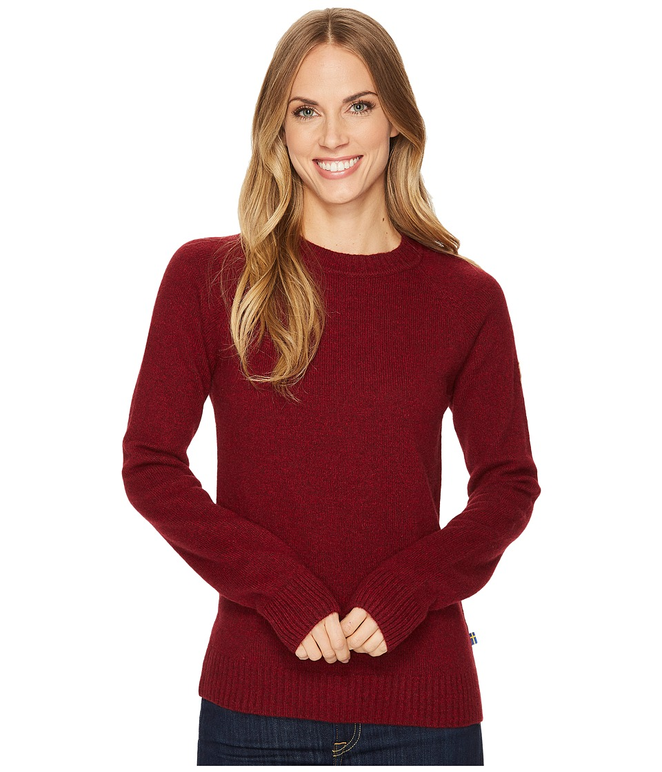 Fjallraven - Ovik Re-Wool Sweater (Dark Garnet) Womens Sweater