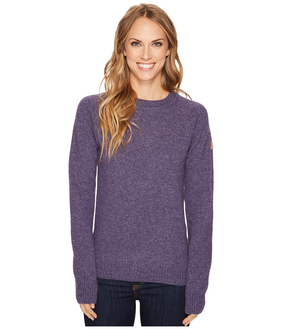Fjallraven Ovik Re-Wool Sweater (Alpine Purple) Women