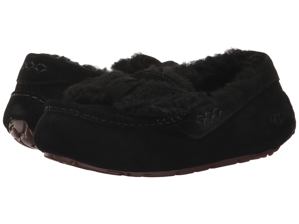 UGG Ansley Fur Bow (Black) Women