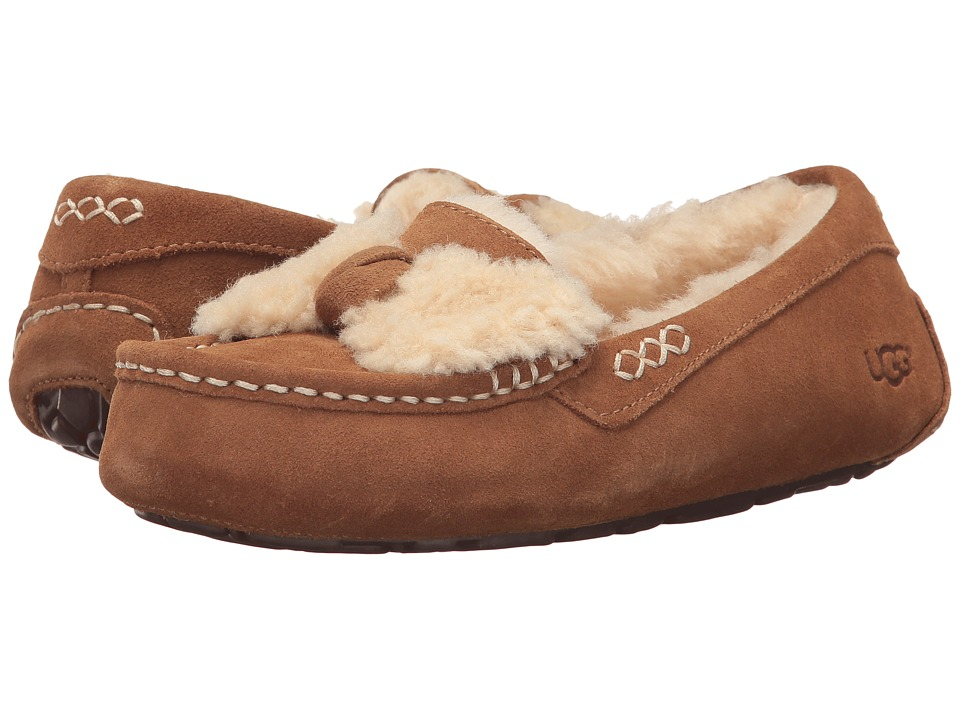 UGG Ansley Fur Bow (Chestnut) Women