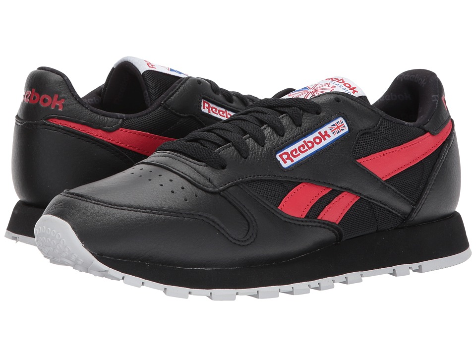 Reebok Lifestyle Classic Leather SO (Black/White/Light Solid Grey/Vital Blue/Primal Red) Men