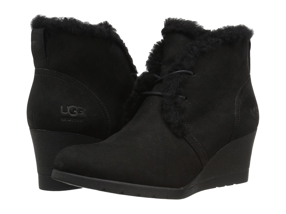 1950s Style Shoes UGG - Jeovana Waterproof Black Womens Boots $159.95 AT vintagedancer.com