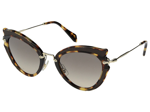 Miu Miu 0MU 05SS - Light Havana/Light Brown Gradient Grey
