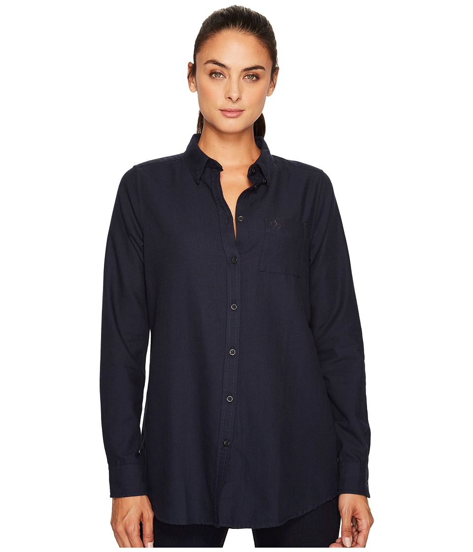Fjallraven - High Coast Flannel Shirt (Night Sky) Womens Long Sleeve Button Up