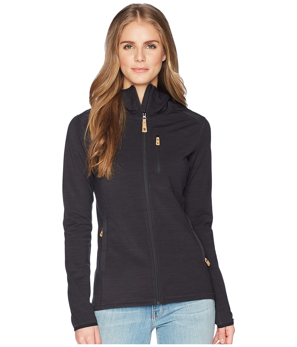 Fjallraven - Keb Fleece Hoodie (Dark Grey) Womens Sweatshirt