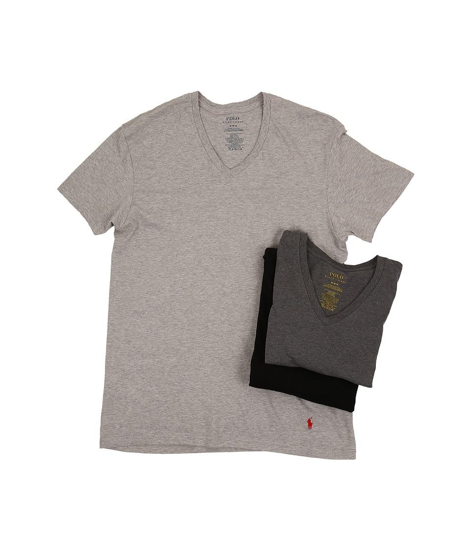 Ralph Lauren 3-Pack V-Neck T-Shirt (Andover/Madison/Black...