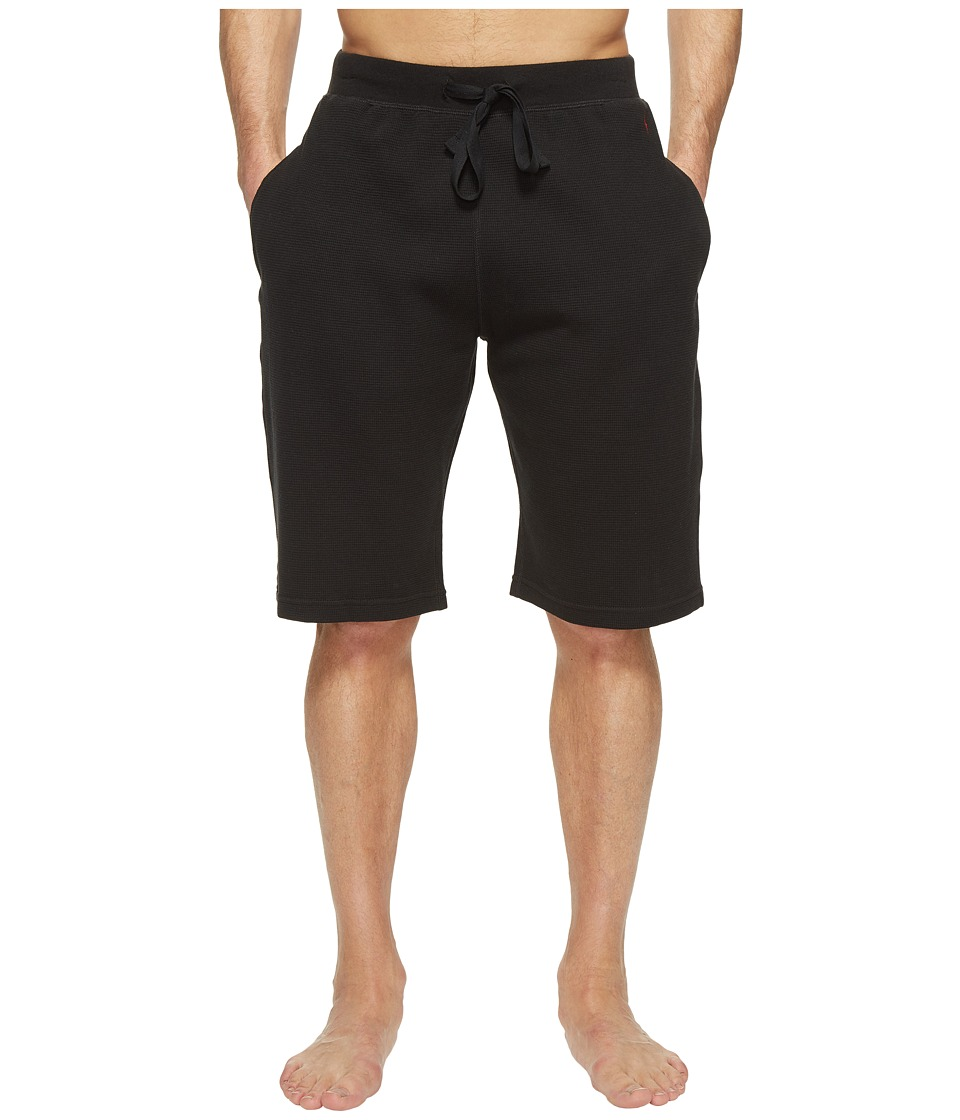 Ralph Lauren Waffle Shorts (Polo Black) Men's Underwear