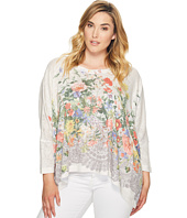 Nally & Millie - Plus Size Printed Floral Slouchy Top