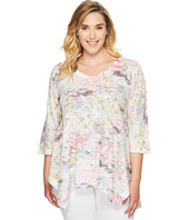 Nally & Millie - Plus Size Pastel Printed Tunic