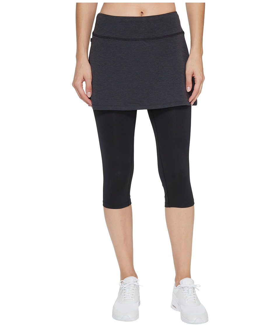 Skirt Sports Lotta Breeze Capri (Black Wool/Black) Women