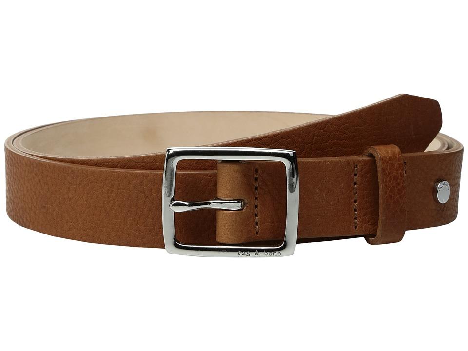 rag & bone - Boyfriend Belt (Pebbled Tan) Womens Belts