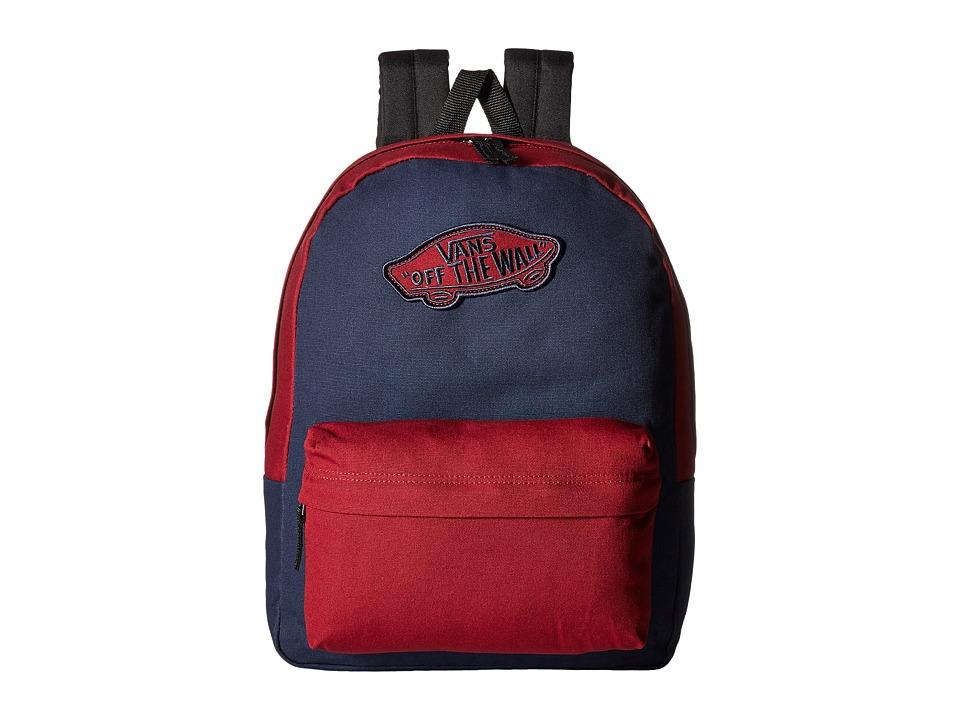 Vans Realm Backpack (Dress Blues/Tibetan Red) Backpack Bags