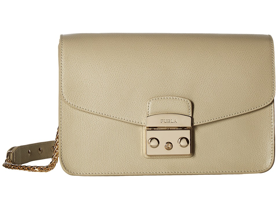Furla - Metropolis Small Shoulder Bag (Creta) Shoulder Handbags
