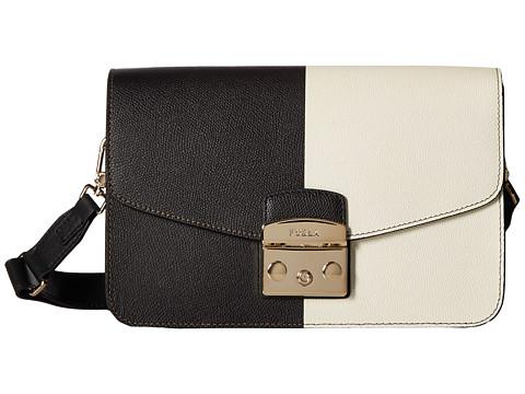 Furla Metropolis Small Shoulder Bag - Onyx/Petalo