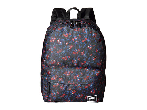 Vans Realm Classic Backpack - Black Ditsy Blooms