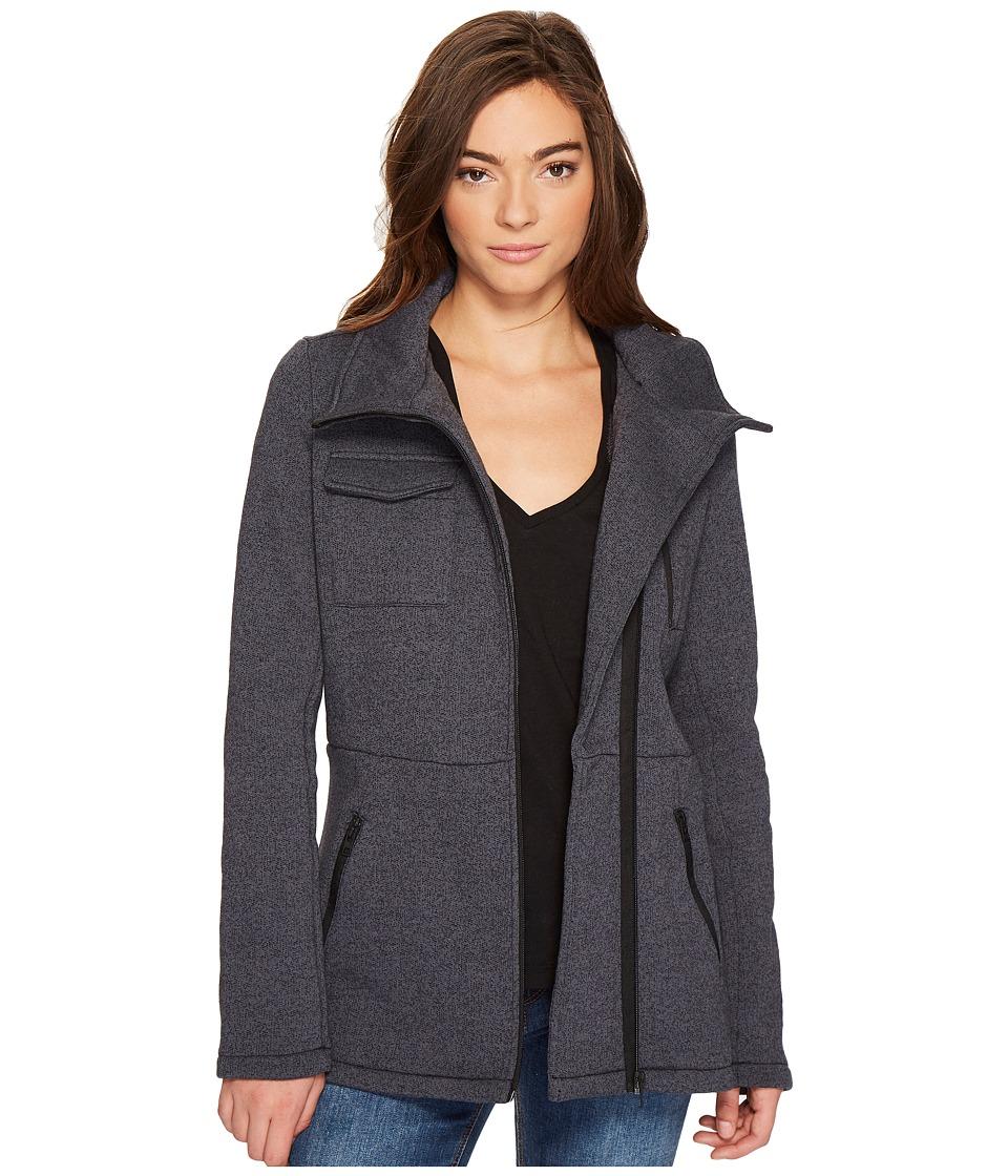 Hurley Winchester Fleece Jacket (Black Heather) Women