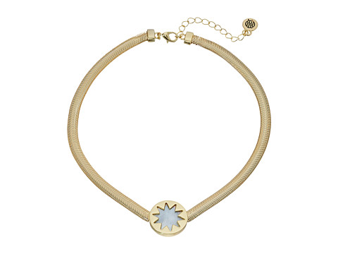 House of Harlow 1960 Sunburst Choker Necklace - Gold/Pearl