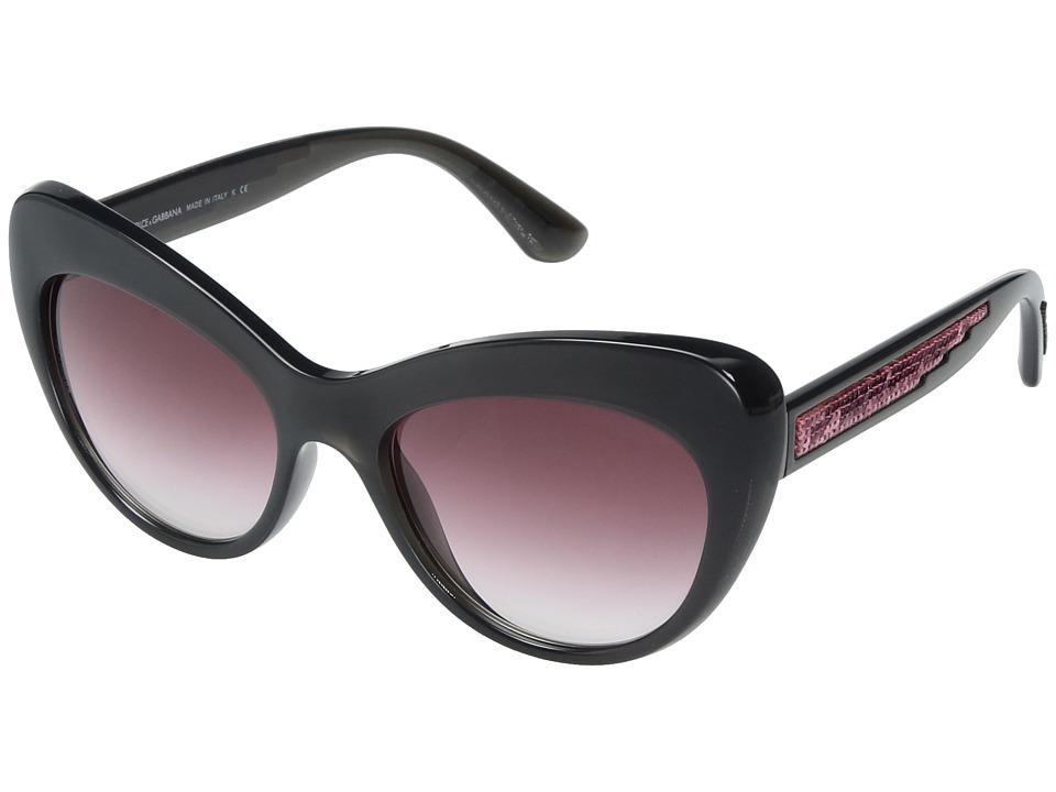 Dolce & Gabbana 0DG6110 (Grey/Pink Gradient) Fashion Sung...