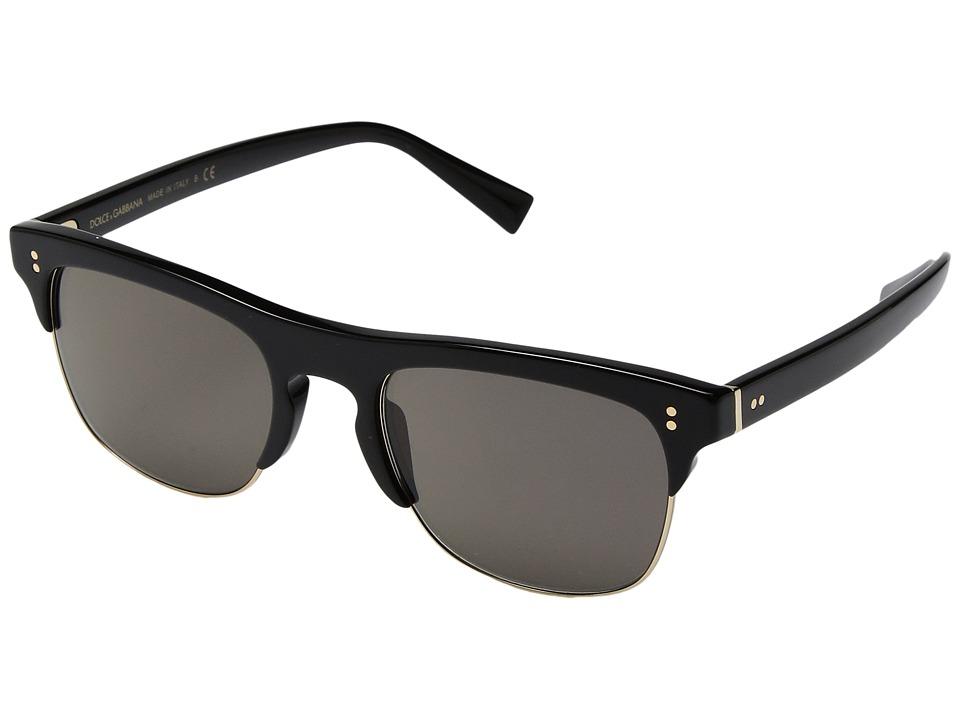 Dolce & Gabbana 0DG4305 (Black/Grey) Fashion Sunglasses