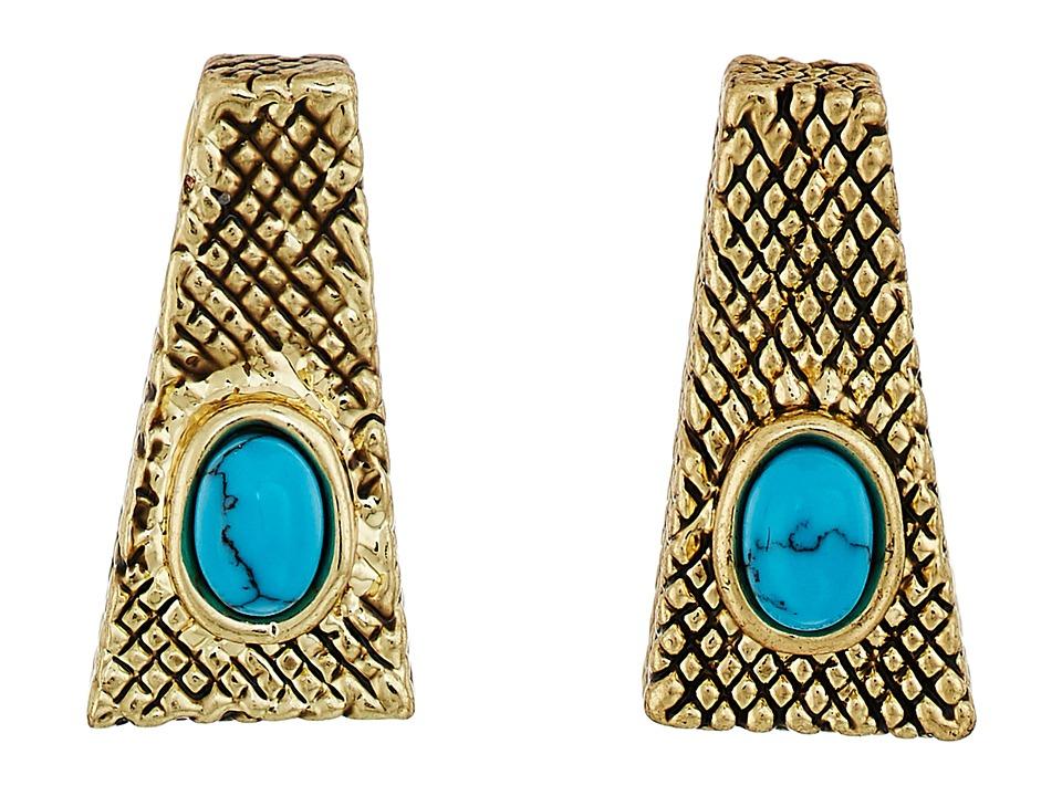 House of Harlow 1960 - Tanta Crosshatch Stud Earrings