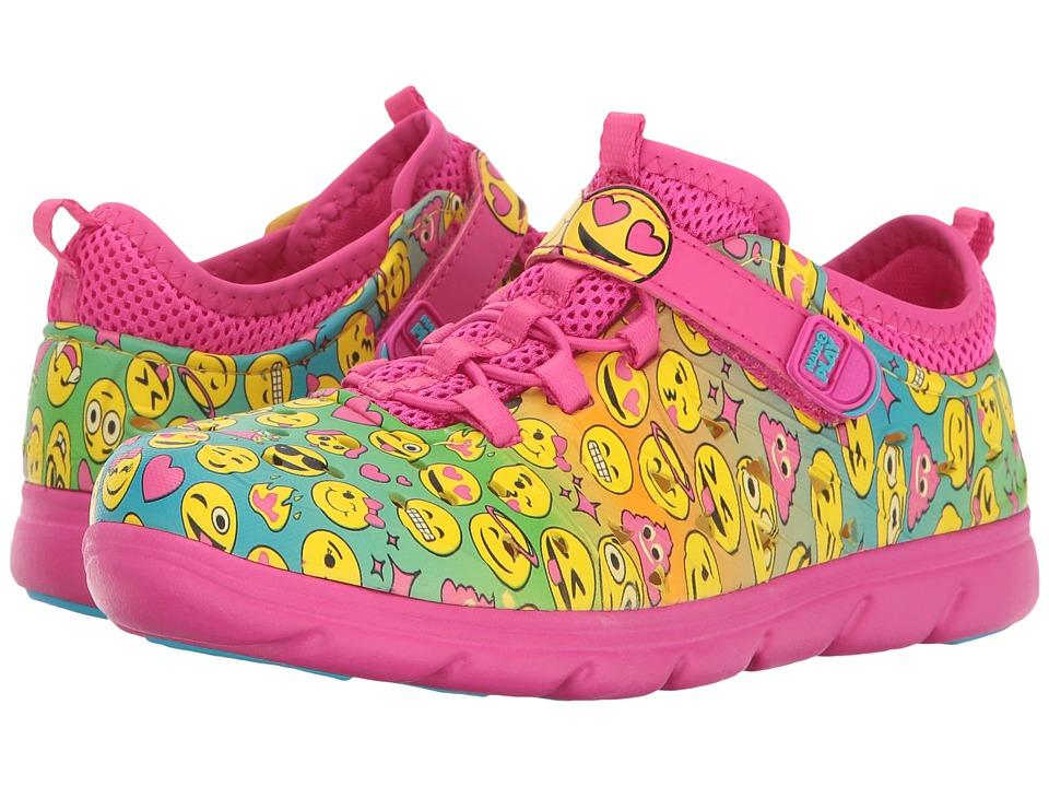 Stride Rite Made to Play Phibian-Emoji (Toddler/Little Kid/Big Kid) (Pink Multi Emoji Print) Girl's Shoes