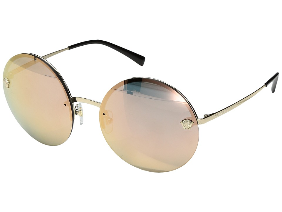 Versace VE2176 (Pale Gold/Grey Mirror Rose Gold) Fashion ...