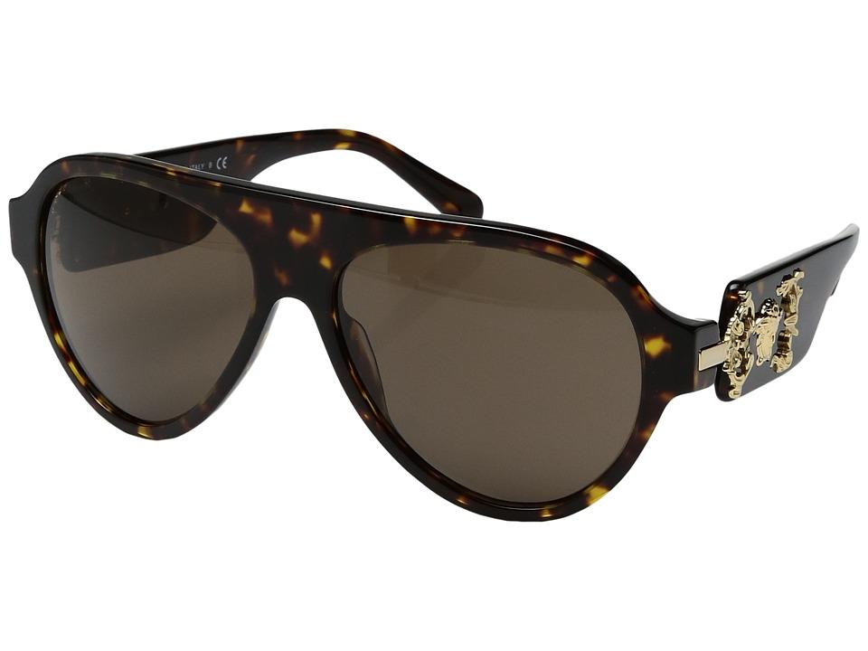 Versace VE4323 (Havana/Brown) Fashion Sunglasses