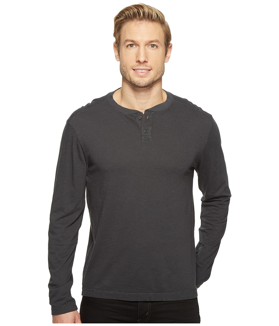 Agave Denim - Cliff Long Sleeve Henley Slub Stripe