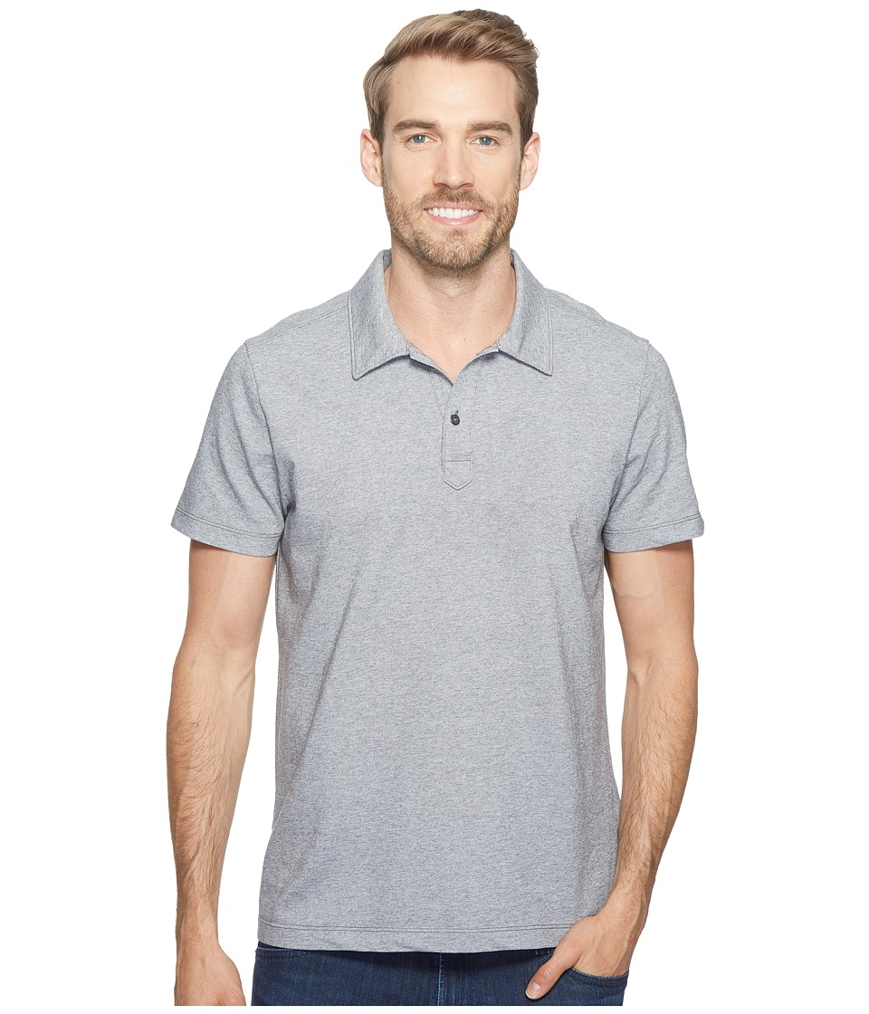 Agave Denim - Short Sleeve Polo Italian Pique in Heather