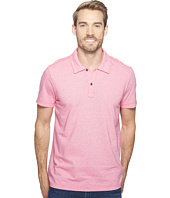 Agave Denim - Short Sleeve Polo Italian Pique in Berry