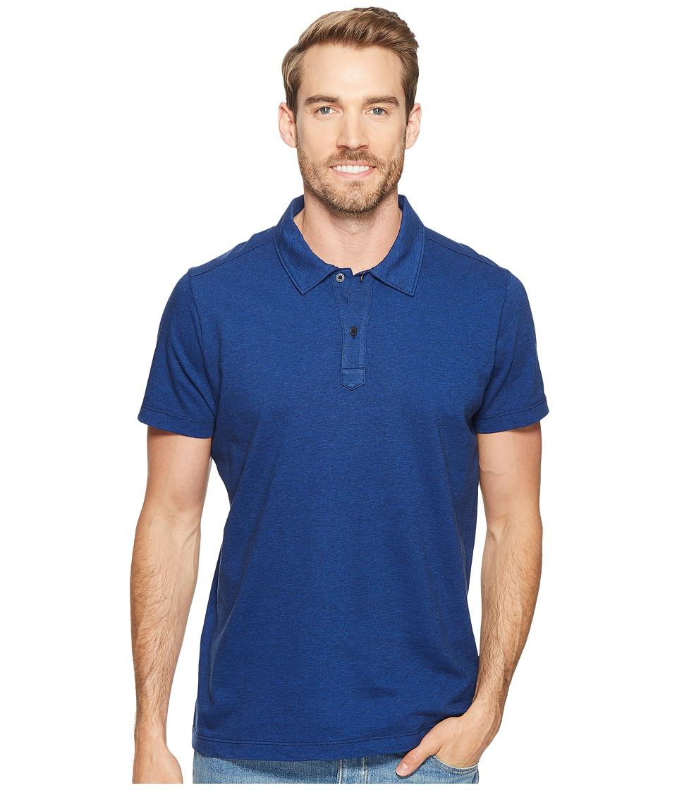 Agave Denim - Short Sleeve Polo Italian Pique in Cobalt