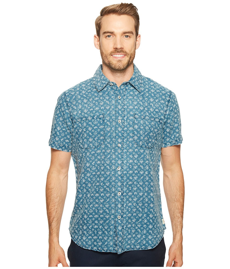 Agave Denim - Bougainvillea Vine Short Sleeve Button Up