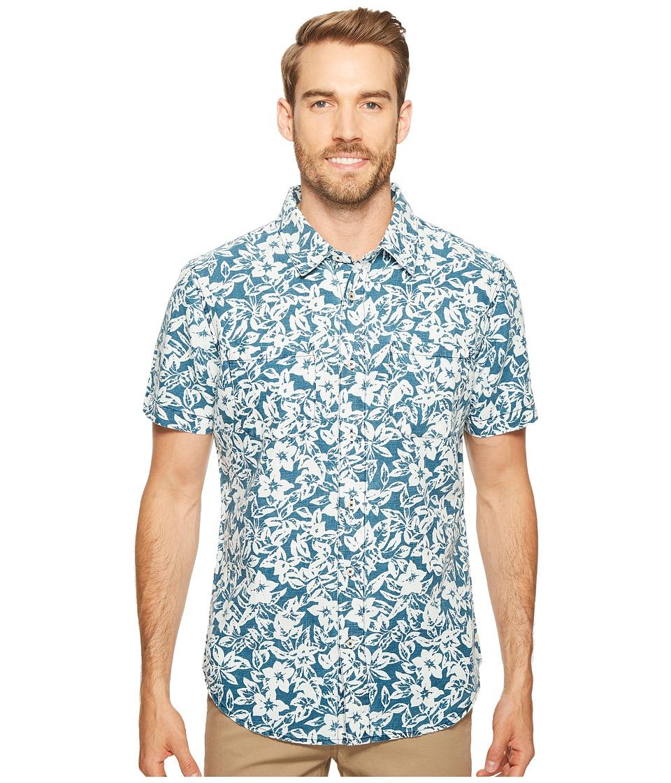 Agave Denim - Isla Vista Bloom Linen Short Sleeve Button Up